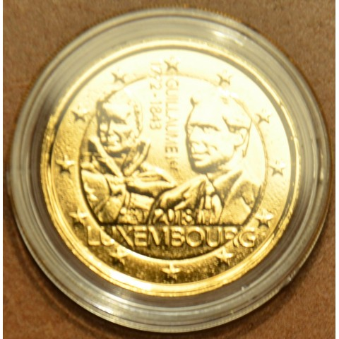 2 Euro Luxembourg 2018 - The 175th anniversary of the death of the Grand Duke Guillaume I. (gilded UNC)