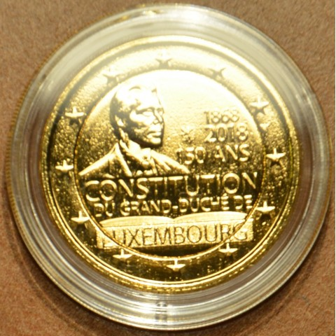 2 Euro Luxembourg 2018 - The 150th anniversary of the Luxembourg Constitution (gilded UNC)