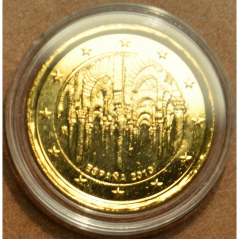 2 Euro Spain 2010 - UNESCO: The historic town center of Cordoba (gilded UNC)