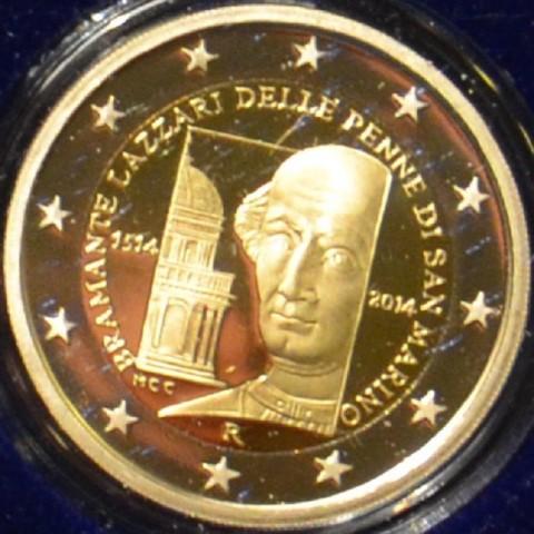 2 Euro San Marino 2014 - 500th anniversary of the death of Donato Bramante  (Proof)