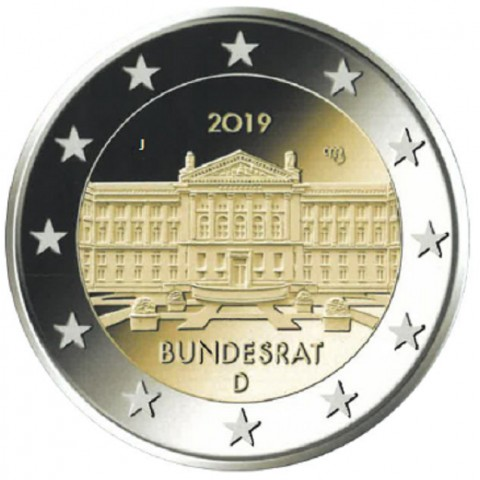 "2 Euro Germany ""J"" 2019 - Bundesrat (UNC)"