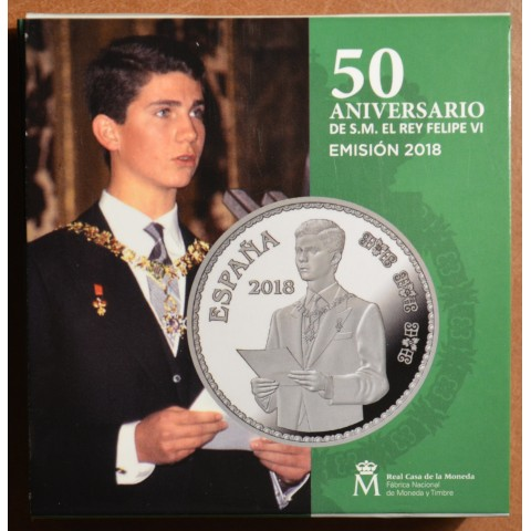 10 Euro Spain 2018 - 50th anniversary of King Felipe VI. (Proof)