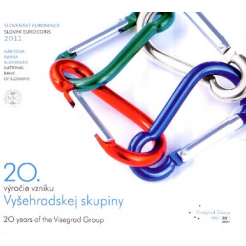 Set of Slovak coins 2011 - Visegrad Group - the 20th anniversary of the formation (BU)