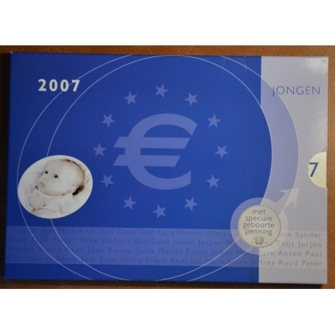 Set of 8 coins Netherlands 2007 Baby set - Boy  (UNC)